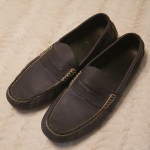 Polo Ralph Lauren smoky grey penny loafers euc